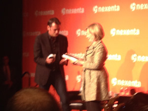 Hilary Clinton at the Nexenta OpenSDx Summit in San Francisco