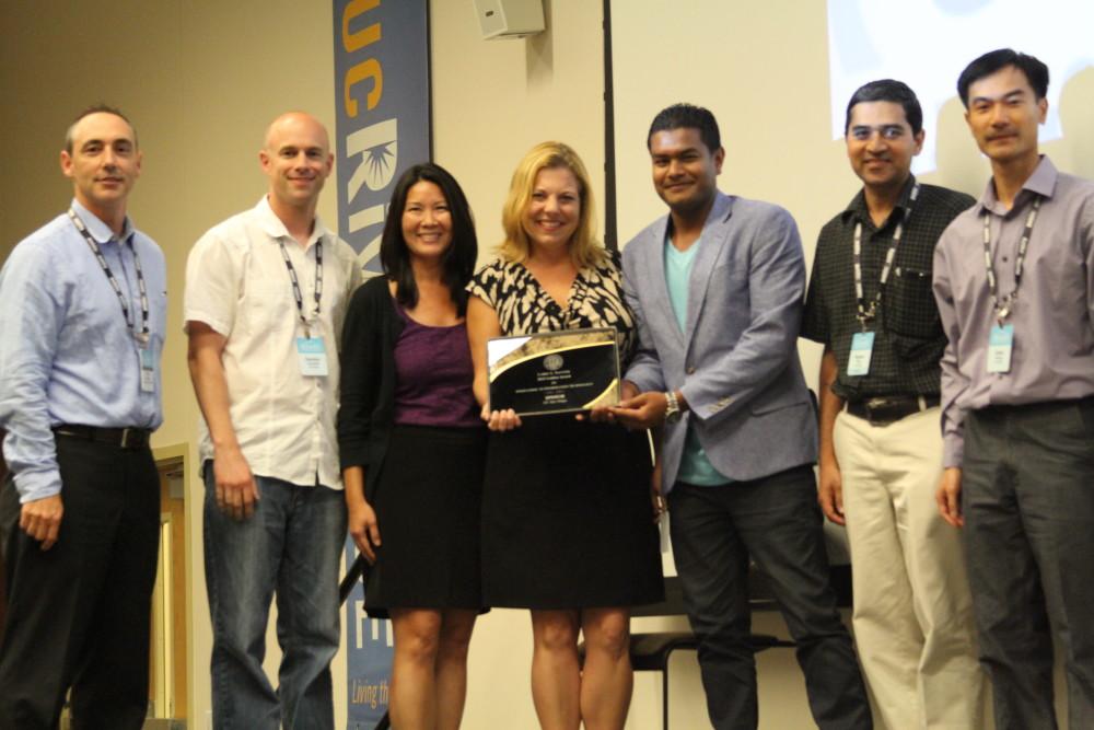Photos of Sautter Award-winning team