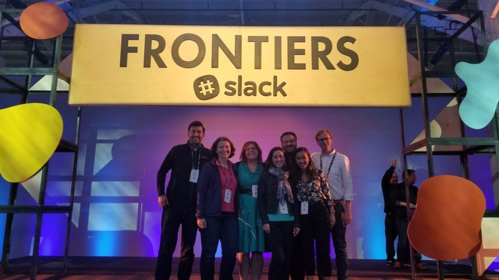 Picture of Tim Marconi and colleagues at Slack Frontiers