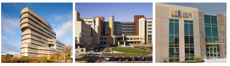 Jacobs Medical Center at UC San Diego Health; Douglas Hospital at UCI Health; a women's health office at UCR Health