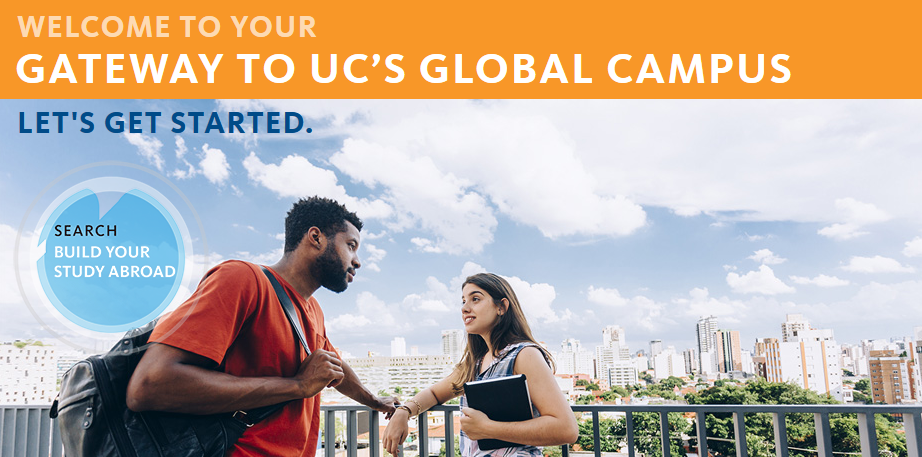 screenshot of UCEAP website, featuring a young man and woman abroad