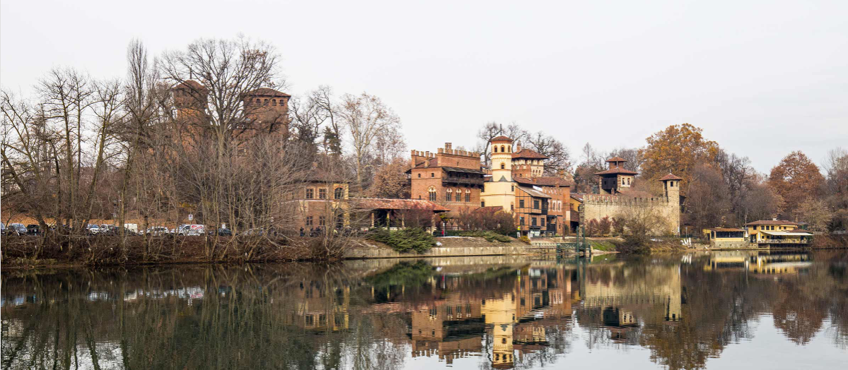Researchers digitally mapped a portion of Turin's Parco del Valentino, the location of the 1911 World's Fair. The park includes a medieval village called Borgo Medievale, pictured here. Photo by Farshid Bazmandegan