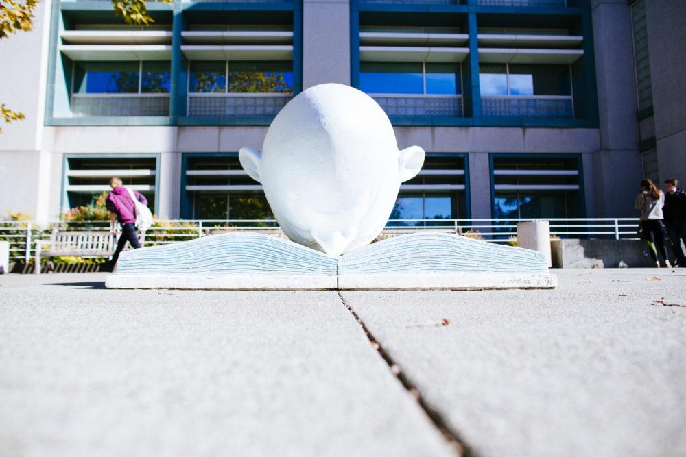 Egghead statue at UC Davis