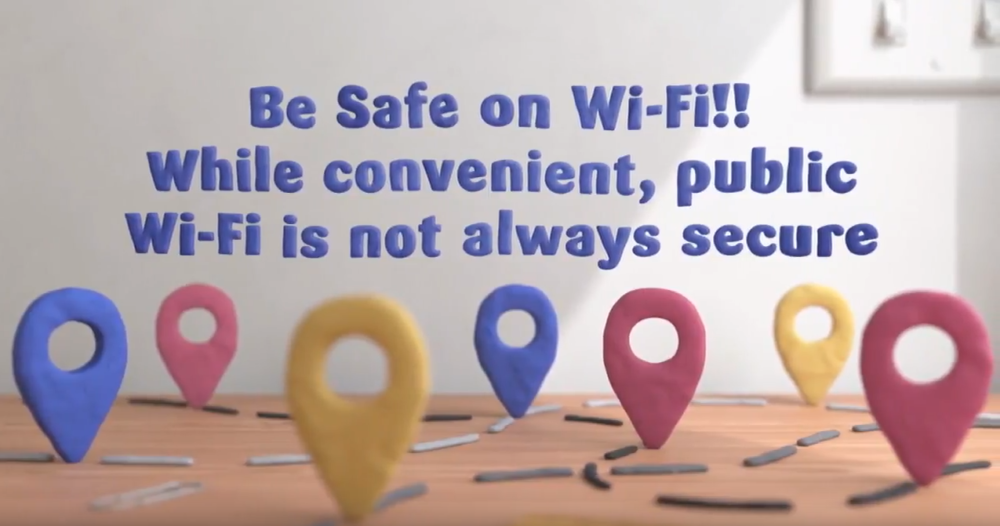 Be safe on Wi-fi! While convenient, public Wi-Fi is not always secure.
