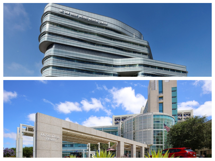 UC San Diego Health Center and UC San Diego Jacobs Medical Center
