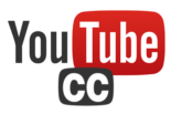 The Youtube and Closed Captioning logos