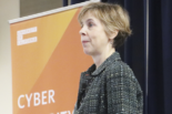 Camille Crittenden giving the keynote speech at the 2018 Cybersecurity Summit at UC Riverside