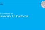 Cisco webinar: University of California