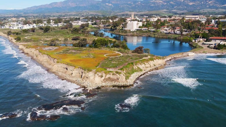 aerial view of UC Santa Barbara campus