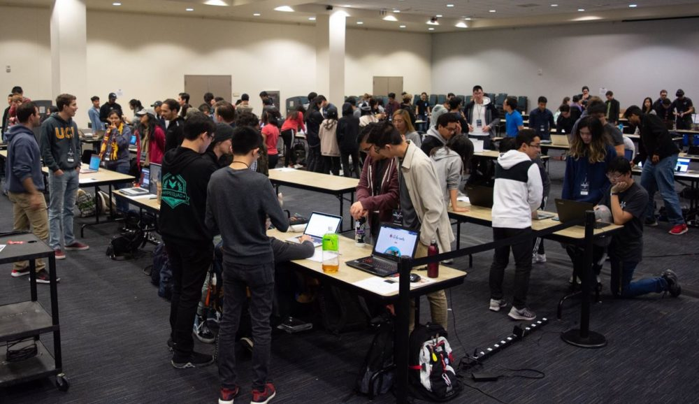 More than 400 students attended HackUCI 2019.