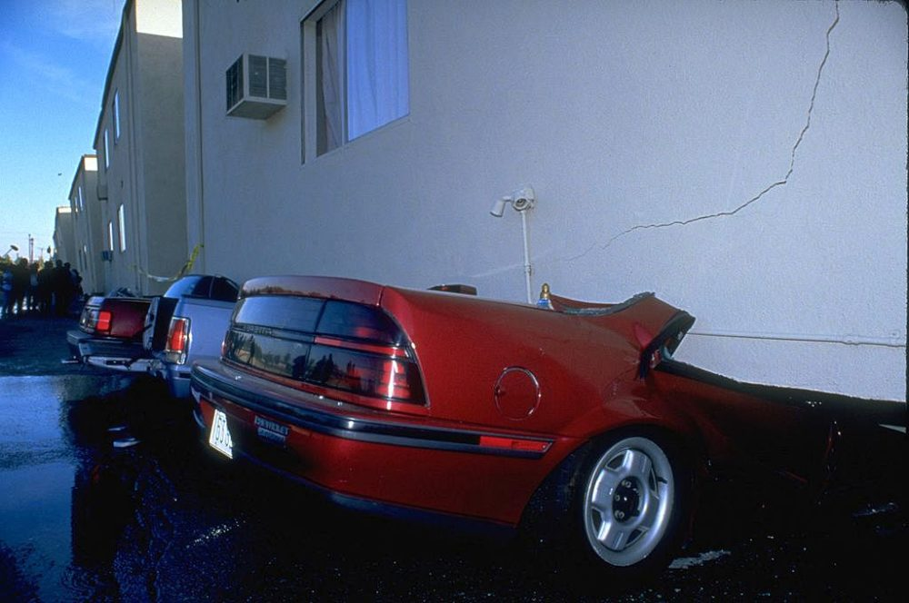 Several apartment buildings collapsed in the January 17, 1994 Northridge earthquake.