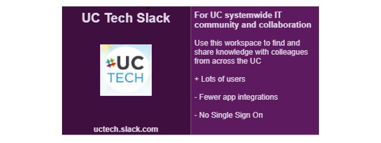 UCTech Slack description