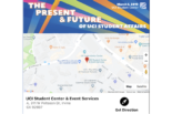 A map showing the location of the UCI Student Center & Event Services