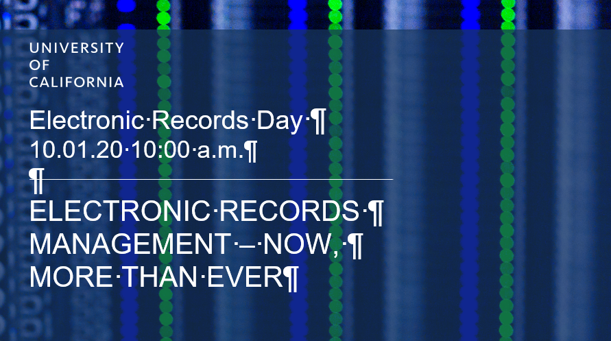 Electronic Records Management Day is Oct. 1