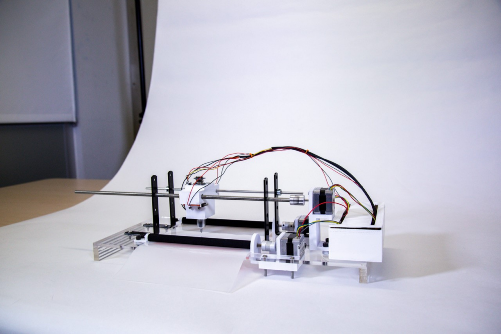 b.Print's at home 3D braille printer. Photo by Gibson Chu, Jacobs Institute for Design Innovation.