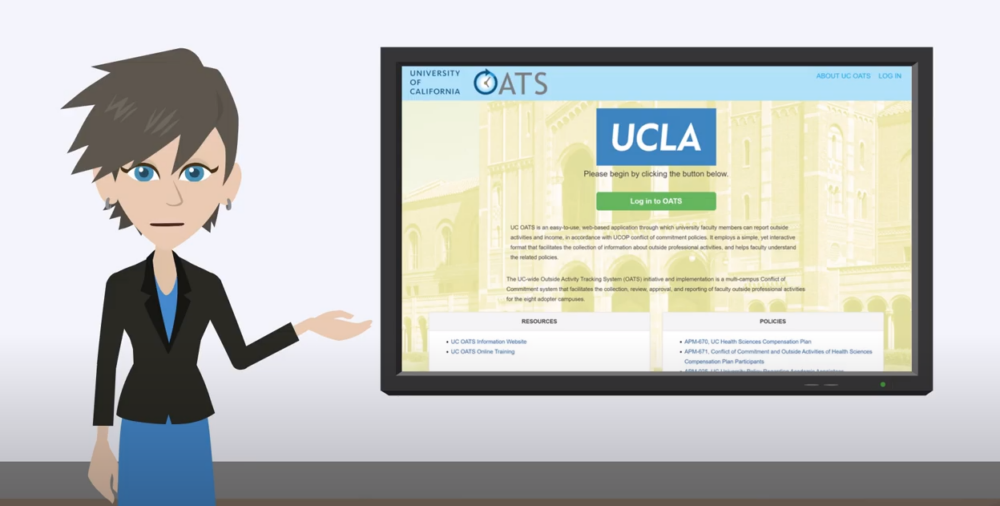 A screenshot of the UC OATS platform