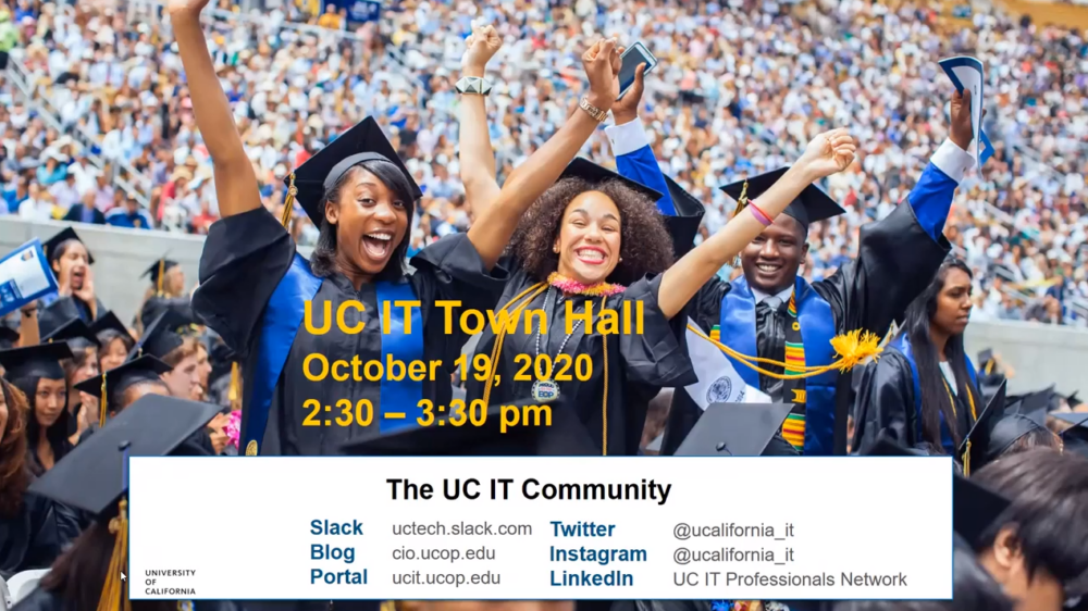 UC IT Town Hall, October 2020