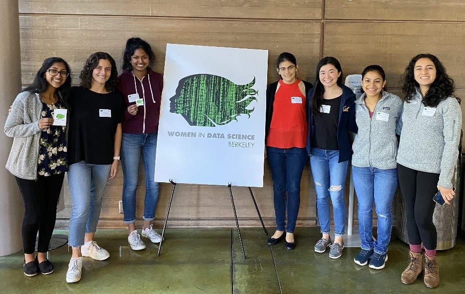 Student volunteers and attendees at WiDS Berkeley Conference 2020.