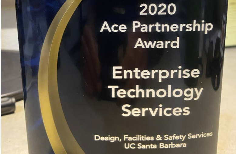 UCSB ETS Ace Partnership Award from 2020