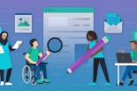 People with disabilities navigating various digital media