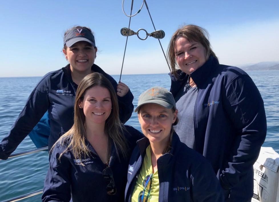 Team photo: Top (L-R): Lindsay Brooker, Heather Hitson. Bottom (L-R): Erin Thomas, Deidre Keeves.