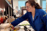 A woman working in a lab. Photo: UCI Research Safety Services